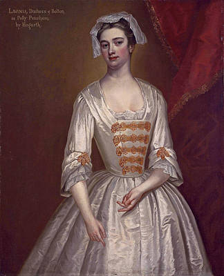 Painting - Lavinia Fenton Later Duchess Of Bolton As Polly Peachum In John Gay's The Beggar's Opera by Charles Jervas