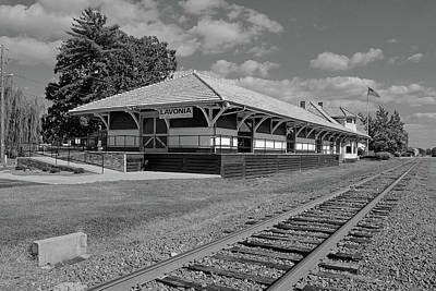 Photograph - Lavonia Depot B W 1 by Joseph C Hinson Photography