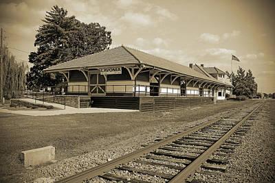 Photograph - Lavononia Depot B W 2 by Joseph C Hinson Photography