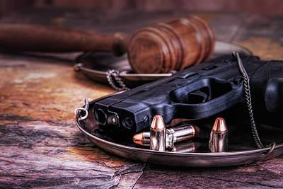 Cartridges Photograph - Law Enforcement Still Life by Tom Mc Nemar