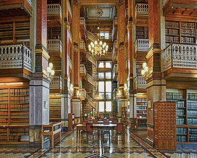 Photograph - Law Library - Iowa State Capitol by Nikolyn McDonald