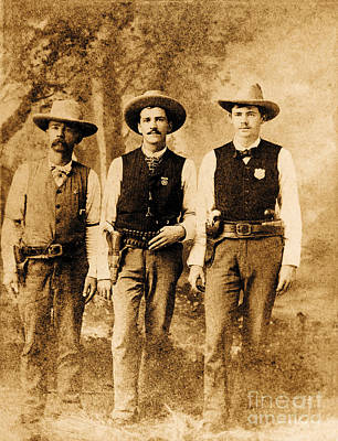 Cowboy Hat Photograph - Law Men Of The West by Jon Neidert