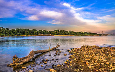 Photograph - Law Water Vistula River View by Julis Simo