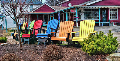 Photograph - Lawn Chair Rainbow by Phyllis Taylor