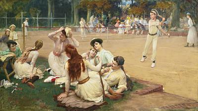 Painting - Lawn Tennis Club by Frederick Arthur Bridgman
