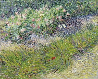 Painting - Lawn With Butterflies by Vincent van Gogh