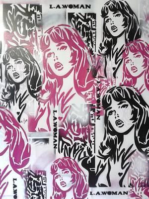 L.a.woman Mix Art Print