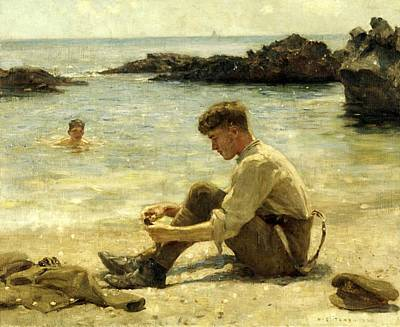 Painting - Lawrence As A Cadet  by Henry Scott Tuke