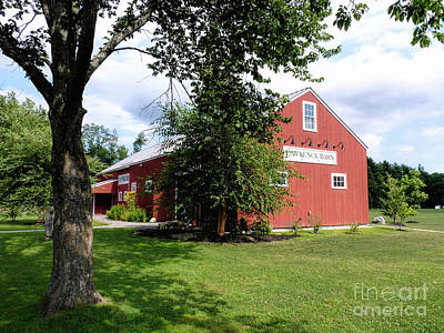 Photograph - Lawrence Barn Hollis Nh by Janice Drew