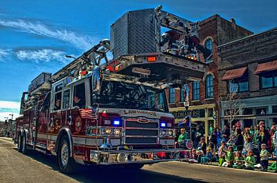 Photograph - Lawrence Kansas Fire Truck by Tim McCullough