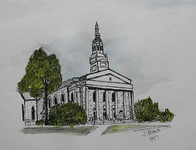 Lawrence Memorial Chapel Art Print by Jack G Brauer