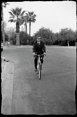 Photograph - Lawyer On A Bicycle, 1971 by Jeremy Butler