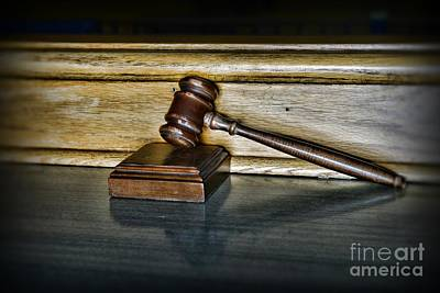 Law Office Photograph - Lawyer - The Judge's Gavel by Paul Ward