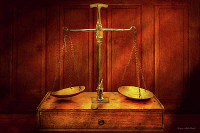 Photograph - Lawyer - Unbalanced Scale Of Justice by Mike Savad