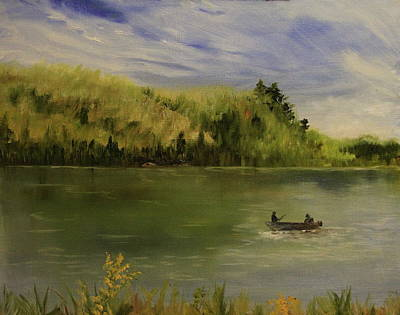 Northwoods Painting - Lax Lake by Joi Electa