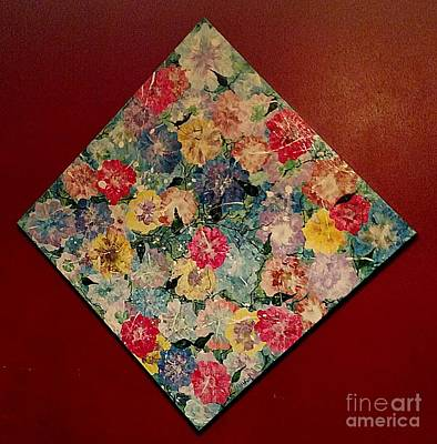 Painting - Lay Me Down In Flowers by Lori Jacobus-Crawford