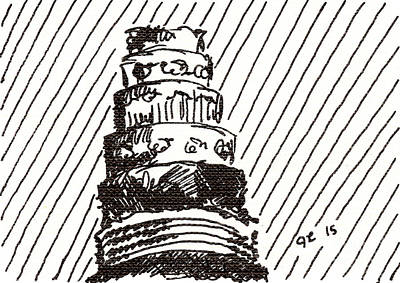 Layer Cake 1 2015 - Aceo Art Print
