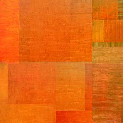 Painting - Layer Study - Orange by Michelle Calkins