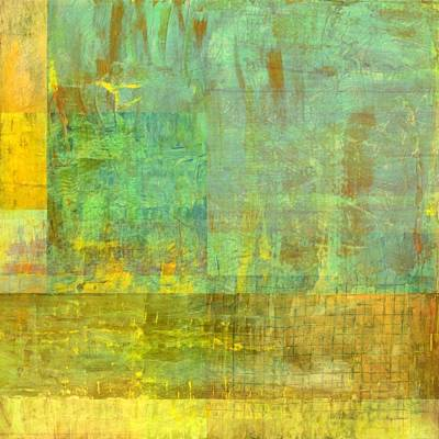 Painting - Layer Study - Turquoise by Michelle Calkins