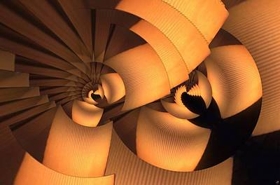 Digital Art - Layered Lamps by Ron Bissett