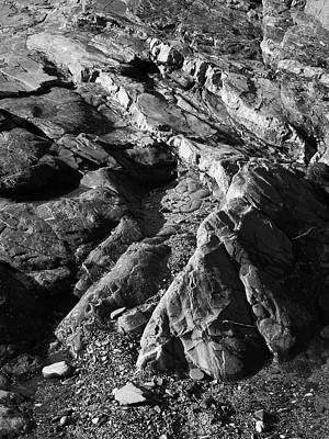 Photograph - Layered Rocks by Bear R Humphreys