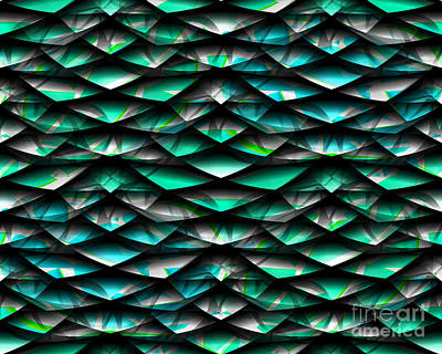 Digital Art - Layers Abstract by Barbara Moignard