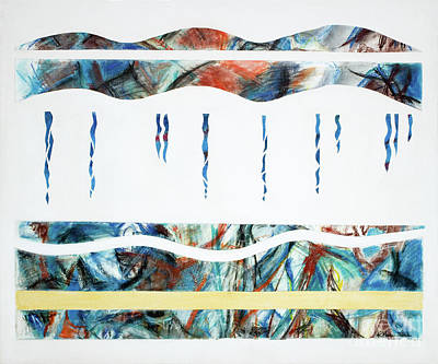 Mixed Media - Layers, Beneath The Surface, No.2 Of 4  by Kerryn Madsen-Pietsch