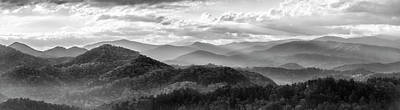 Design In Nature Photograph - Layers In The Smokies by Jon Glaser