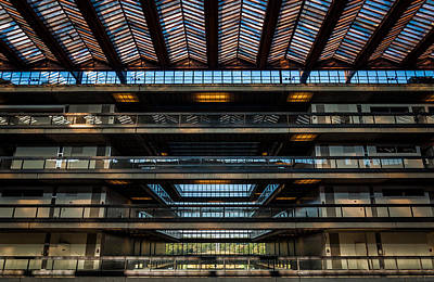 Glass Ceiling Photograph - Layers by Kristopher Schoenleber