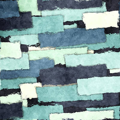 Patchwork Quilts Digital Art - Layers Of Colors Pattern by Phil Perkins