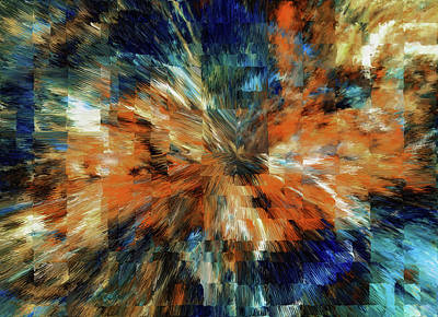 Browns And Golds Digital Art - Layers Of Depression Abstract  by Georgiana Romanovna