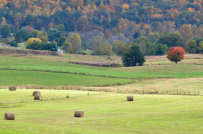 Tennessee Hay Bales Photograph - Layers Of Fields by Jan Amiss Photography