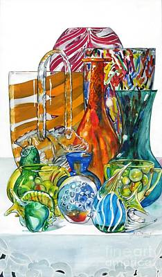 Painting - Layers Of Glass by Jane Loveall