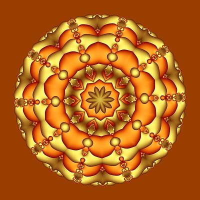 Digital Art - Layers Of Gold by Ruth Moratz
