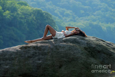 Photograph - Laying On Top Of The Boulder by Dan Friend