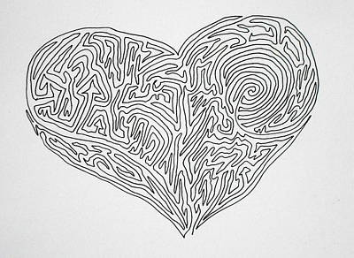 Laying Your Heart On A Line  Art Print by Vicki  Housel