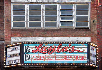 Layla's In Nashville Art Print by Mike Burgquist