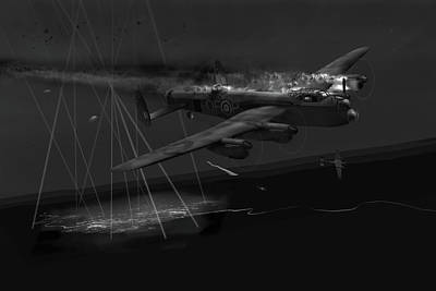 Photograph - Layne's Lancaster Black And White Version by Gary Eason