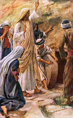 New Testament Drawing - Lazarus, Come Forth by Harold Copping