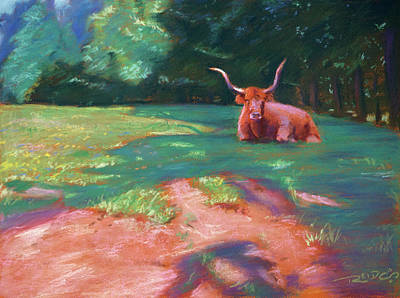 Pastel Painting - Lazy 5 Pastoral by Christopher Reid