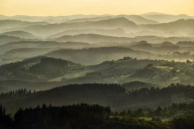 Photograph - Lazy Afternoon In Beskid by Jaroslaw Blaminsky