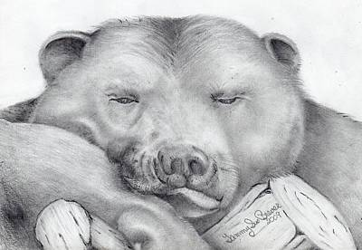 Tennessee Drawing - Lazy Bear by Tammy Brewer