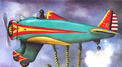 Lazy Bird Plane Detail Art Print by Leah Saulnier The Painting Maniac