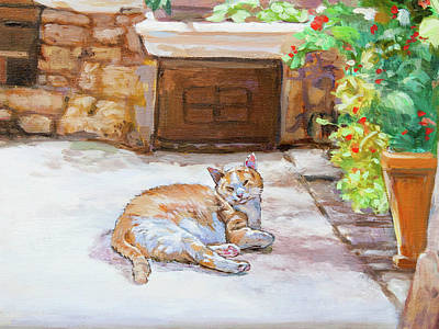 Painting - Lazy Cat by Dominique Amendola