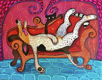 Painting - Lazy Coonhound by Marti McGinnis