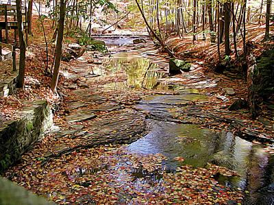 Bedford Digital Art - Lazy Creek by Linda Carruth