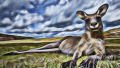 Kangaroo Mixed Media - Lazy Day by Marvin Blaine