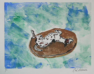 Greyhound Mixed Media - Lazy Days by Cori Solomon