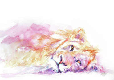 Painting - Lazy Days - Lion by Stephie Butler