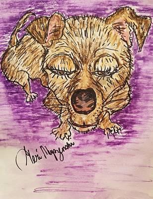 Lazy Dog Drawing - Lazy Dog by Geraldine Myszenski